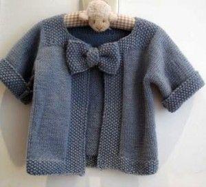 jachetica cu fundita tricotata