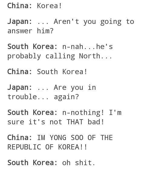 Hetalia - Korea, Japan, and China