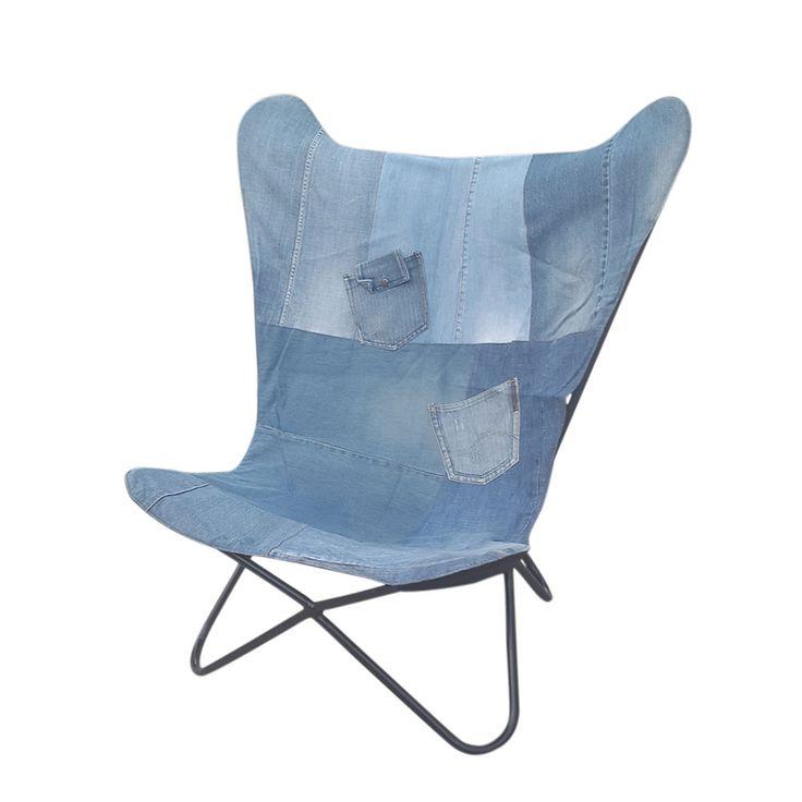 Butterfly Stuhl Im Jeans Design Blau Jetzt Bestellen Unter:  Https://moebel.ladendirekt.de/kueche Und Esszimmer/bar Moebel/barhocker/?uidu003d792cee30 Ae40 5ba1   ...