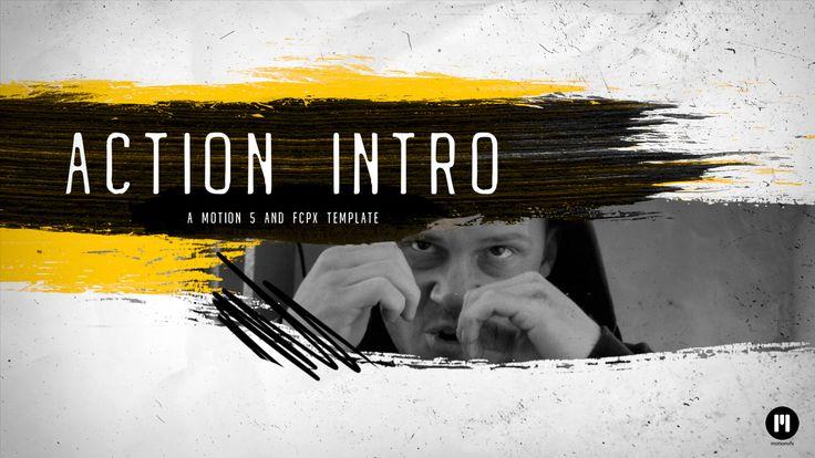 Action Intro MOTION 5 TEMPLATE arrived - www.motionvfx.com/N2243 #FCPX #FinalCutProX #VideoEditing #Design #Apple #AppleMotion #Motion5