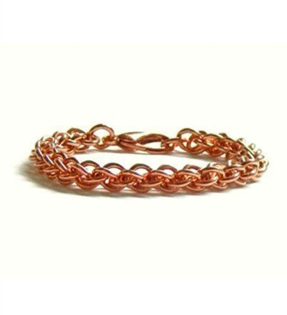 Chainmail Copper Bracelet: Pure Copper Healing by ChainMettle