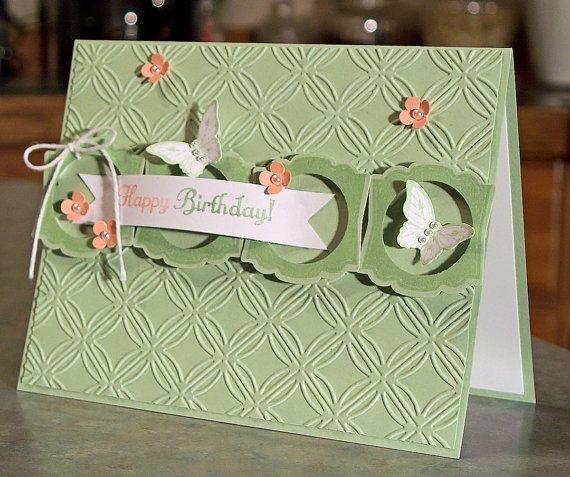 Birthday Card using Stampin Up Papillon Potpourri - Something to Celebrate  Label Love via Etsy