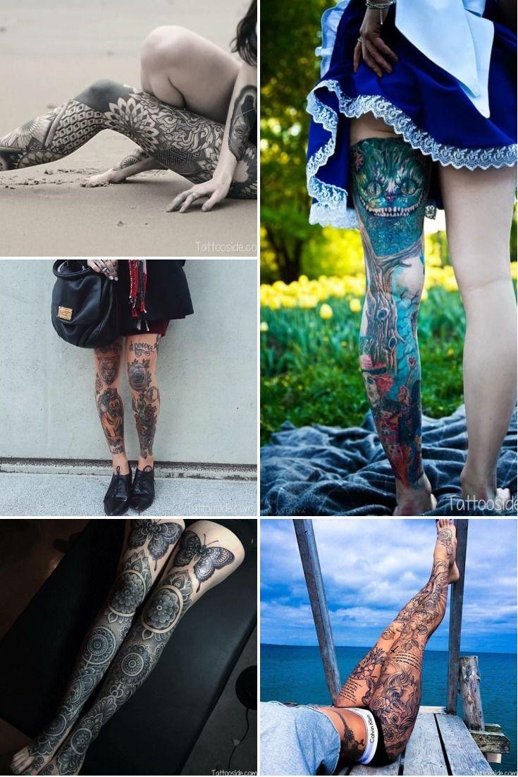 28 wonderfully leg tattoos for woman