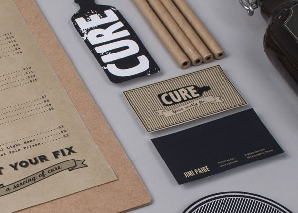 Cure restaurant and bar branding