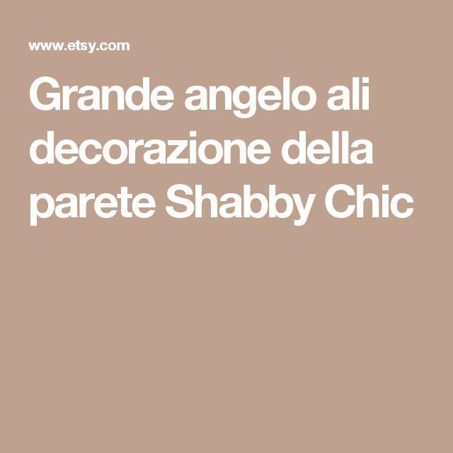 Grande angelo ali decorazione della parete Shabby Chic