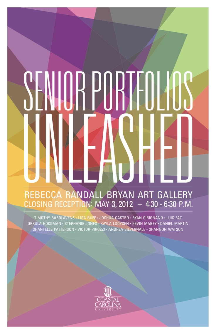 Poster design exhibition - Poster Design Of Our Senior Portfolio Exhibition By Me