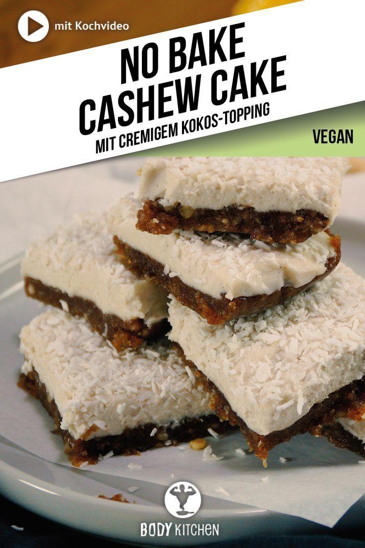 No Bake Cashew Cake Rezept In 2019 Glutenfreier Kuchen Kuchen Ohne Backen Und Kuchen