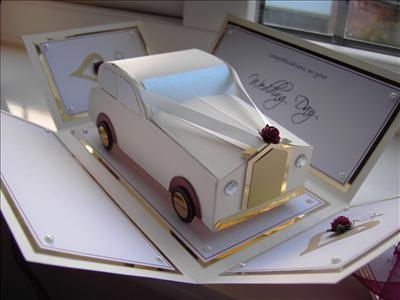 Wedding car ivory by: fionap1971