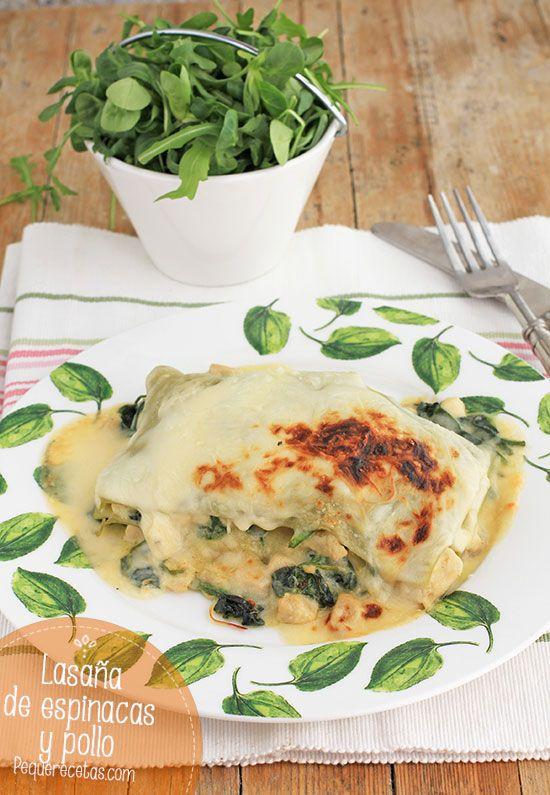 Lasaña de espinacas y pollo, ¡sana y deliciosa!