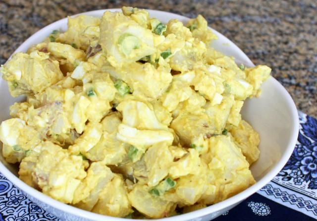 This is one of our favorite potato salads, a simple recipe made with potatoes, eggs, mayonnaise and mustard. Make this delicious potato salad for your next cookout or potluck!