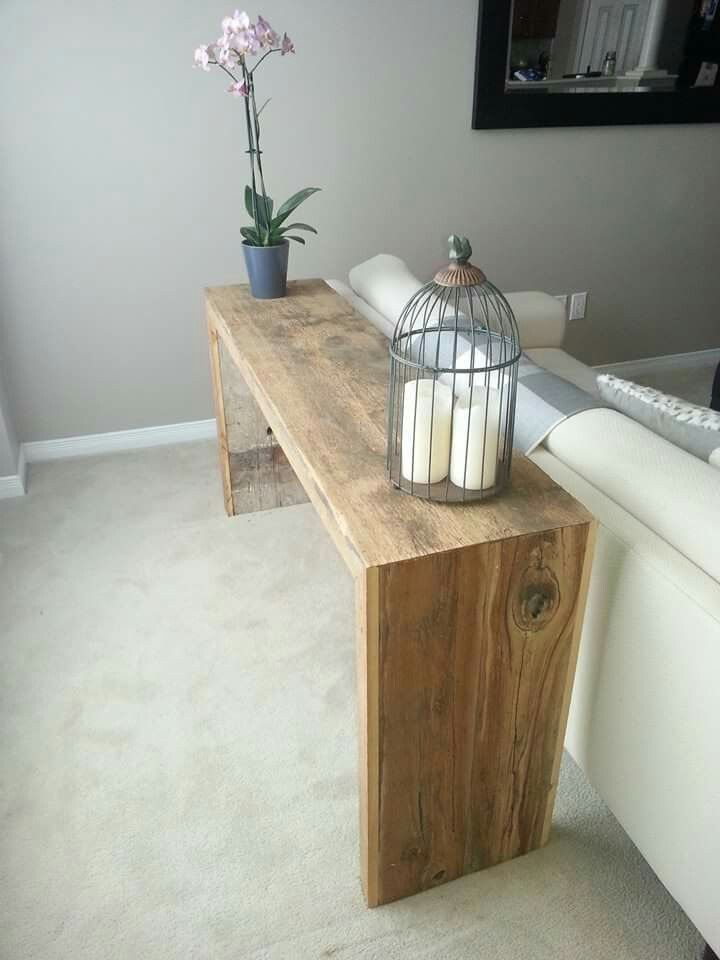 Reclaimed sofa table