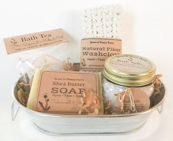 Ultimate Relaxation Spa Gift Set  by GrowinPeaceFarmShop on Etsy