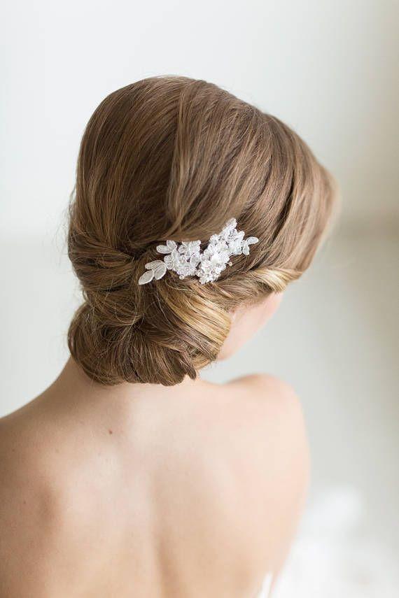 Petite Lace Hair Comb Floral Bridal Hair Pin Wedding Hair