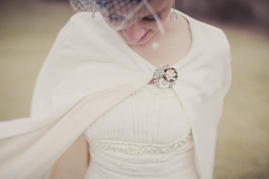 Wedding Cape for a winter wedding