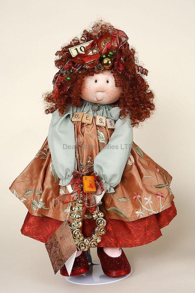 Bess OOAK cloth doll by Gretchen Wilson for Little Souls