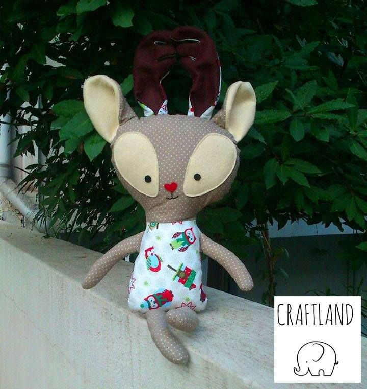 Reindeer made of fabric Made with an original Dolls and daydream pattern