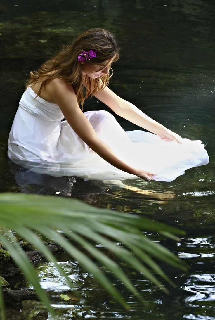 Destination Weddings Trash the Dress Alternative - if you get married at Sandos Caracol Eco Resort they have a lovely cenote to take wedding photos in!