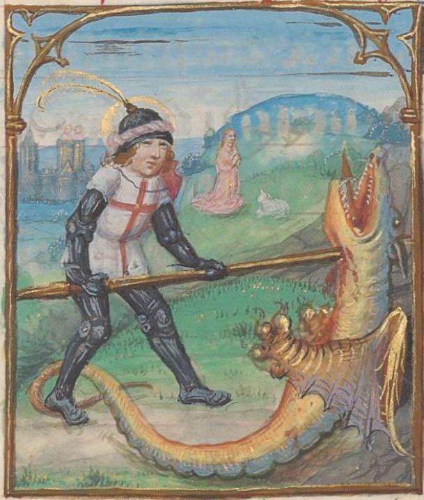 Livre d'heures, en latin et en français, à l'usage de Cambray  1401-1500  Ms-1185 réserve  Folio 266r