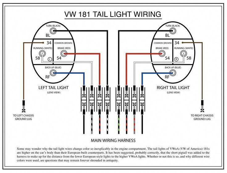 taillight diagram   volkswagen181