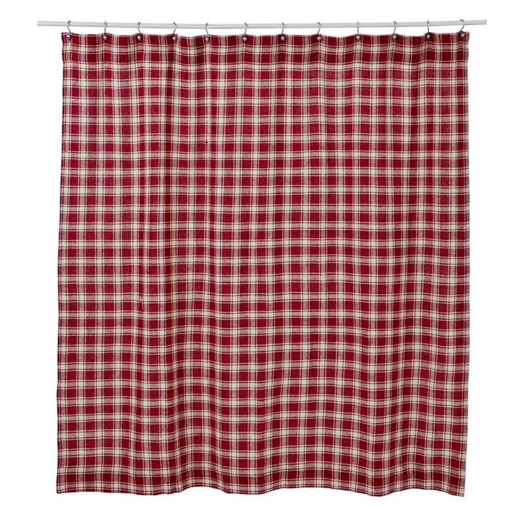 Breckenridge Burlap Plaid Shower Curtain
