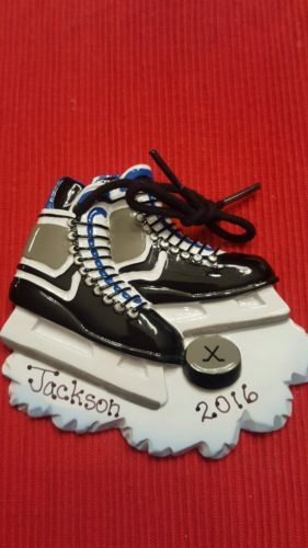 "Personalized christmas #ornament #""hockey skates"" team #sport, ice skates, winter,  View more on the LINK: 	http://www.zeppy.io/product/gb/2/272461972887/"