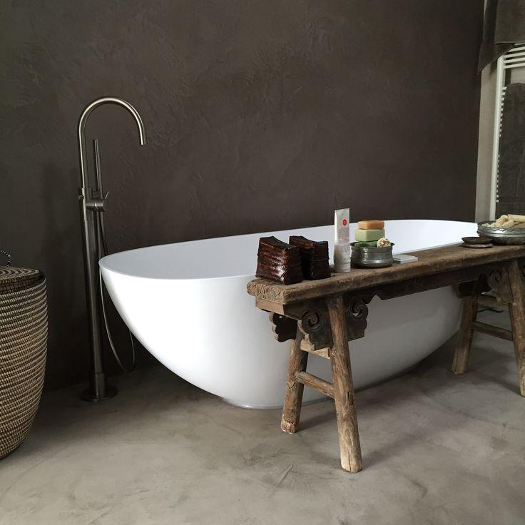 Mortex badkamer gemaakt door Luxury walls Haarlem