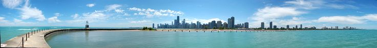 Panorama of North Avenue Beach - Plages de Chicago — Wikipédia