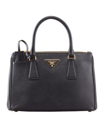 Mini Saffiano Lux Tote Bag, Black (Nero) by Prada at Neiman Marcus.