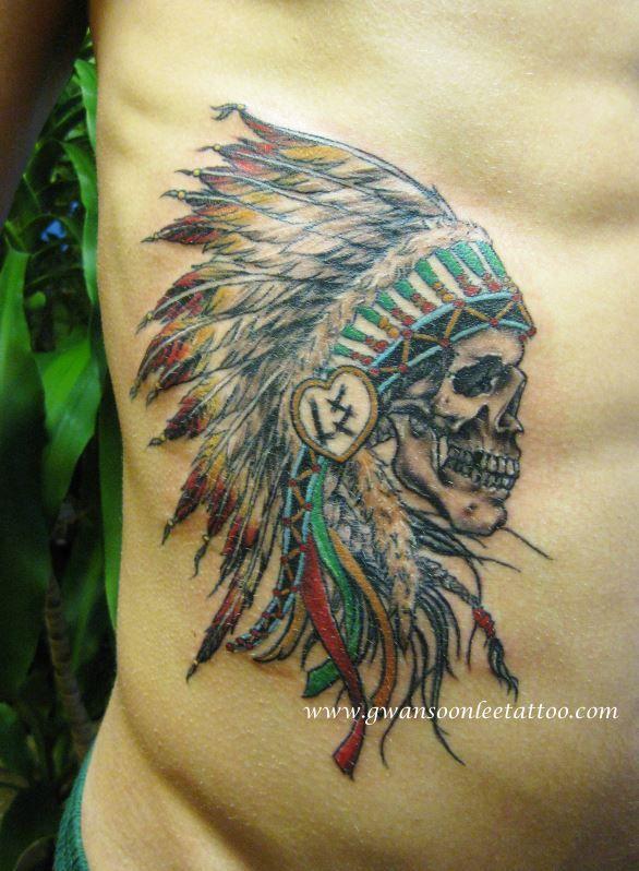 skull chief tattoo design gwan soon lee tattoos pinterest skulls design and tattoo designs. Black Bedroom Furniture Sets. Home Design Ideas