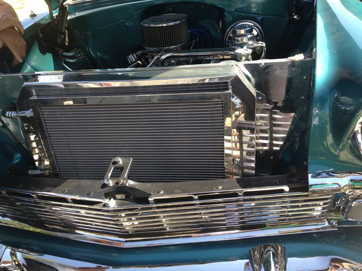 Tri Five Chevy Radiator Core Support And Ac Condenser