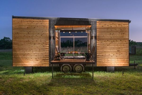 Alpha Tiny House - built by New Frontier Tiny Homes, Nashville Tennessee, $79,000 as seen here complete with appliances, etc.