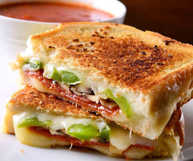 Pepperoni Pizza Grilled Cheese | Burgers, Sandwiches, Wraps, Quesadil ...