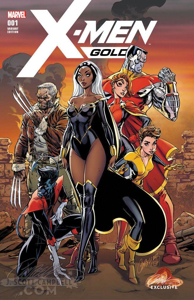 X Men Gold 1 J Scott Campbell Variants Marvel Superheroes X Men Marvel Comics Art