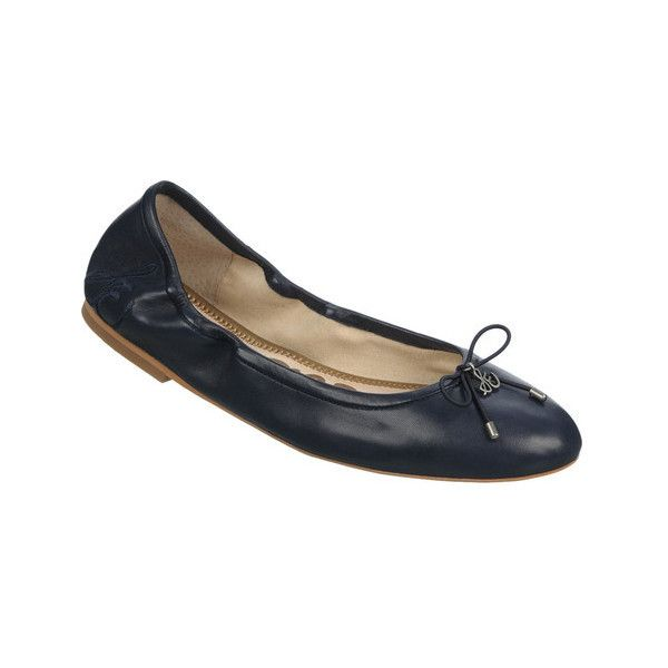 Women's Sam Edelman Felicia Ballet Flat ($100) ❤ liked on Polyvore featuring shoes, flats, ballet flats, blue, casual, leather ballet flats, blue flats, animal print ballet flats, ballet pumps and flat shoes