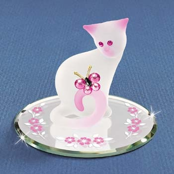 Glass Pretty Kitty Figurine by Glass Baron