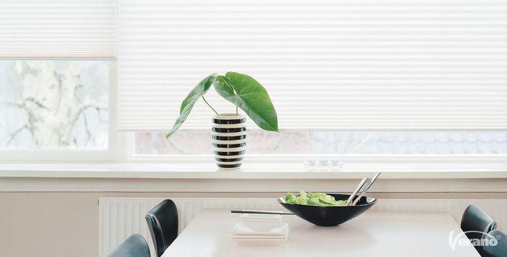 Dit plisségordijn creëert een prachtige #lichtinval in uw #keuken.