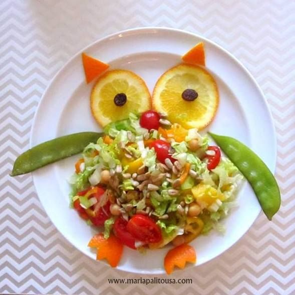 Owl salad recipe by Mariapalito - Food that your kids will love and eat