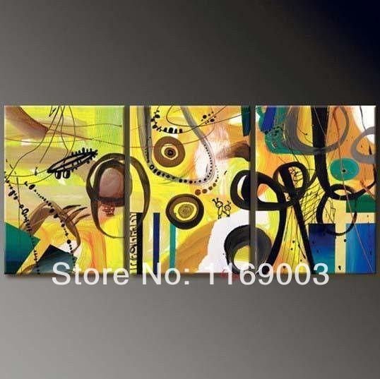 Абстрактный современный 3 шт. полотно изображение искусства стены маяк ручной маслом на стене только холст гостиной и ее доставки