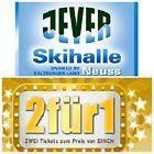 #Ticket  SKIHALLE NEUSS JEVER FUN 2 FÜR 1 GUTSCHEIN / FREIKARTE GÜLTIG BIS 31.1.17 #Ostereich
