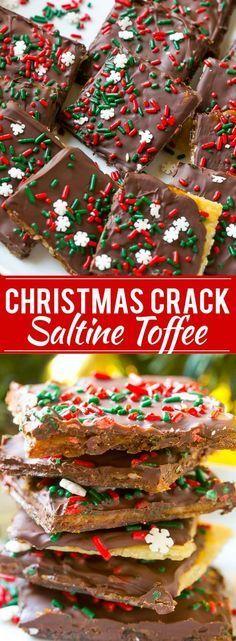 Christmas Crack Recipe   Saltine Toffee Recipe   Toffee Recipe   Easy Dessert Recipe   Easy Candy Recipe   Homemade Toffee via @dinneratthezoo