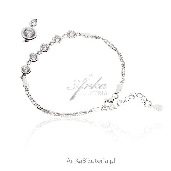 biżuteria ślubna bransoletka damska