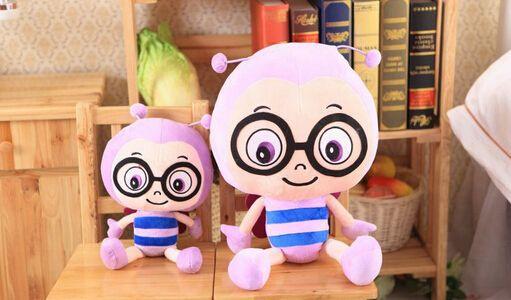Новый творческий мультфильм цвет пчелы куклы Детские плюшевые игрушки детский подарок на день рождения купить на AliExpress