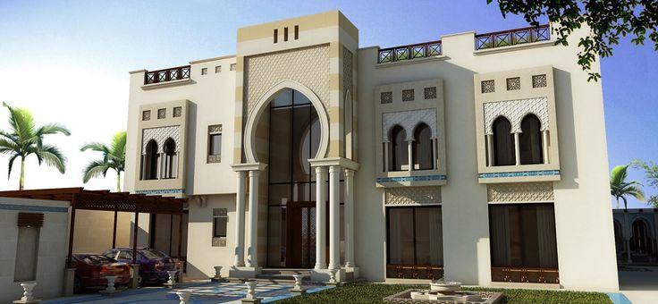 Arabic Architecture Houses Private Villa 3...