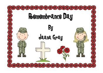 Remembrance day activities for lower years. Explores the main symbols ...