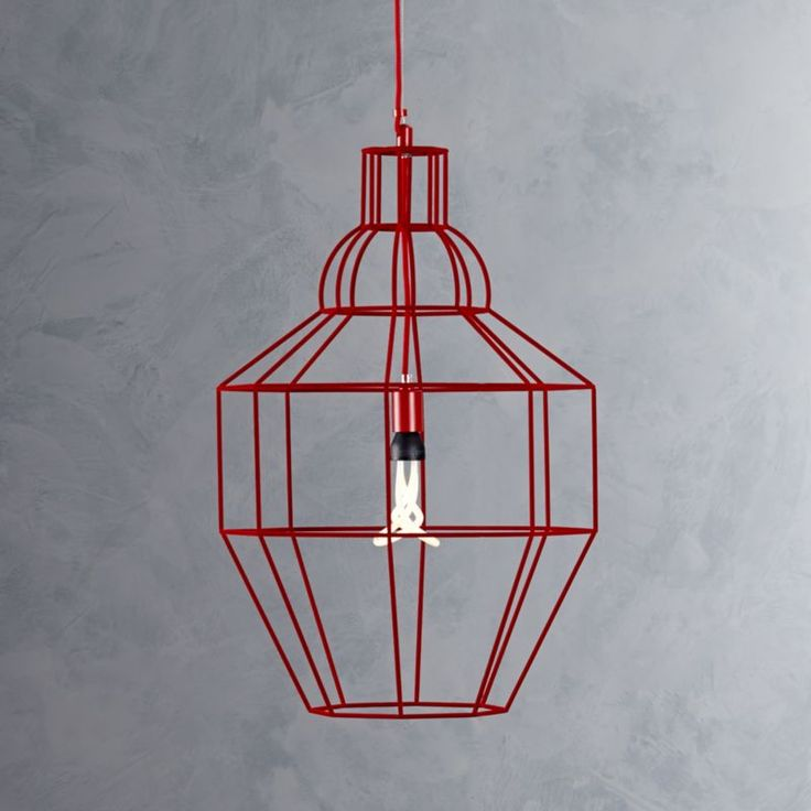 Riviera Large Red Pendant Lamp    Crate and Barrel