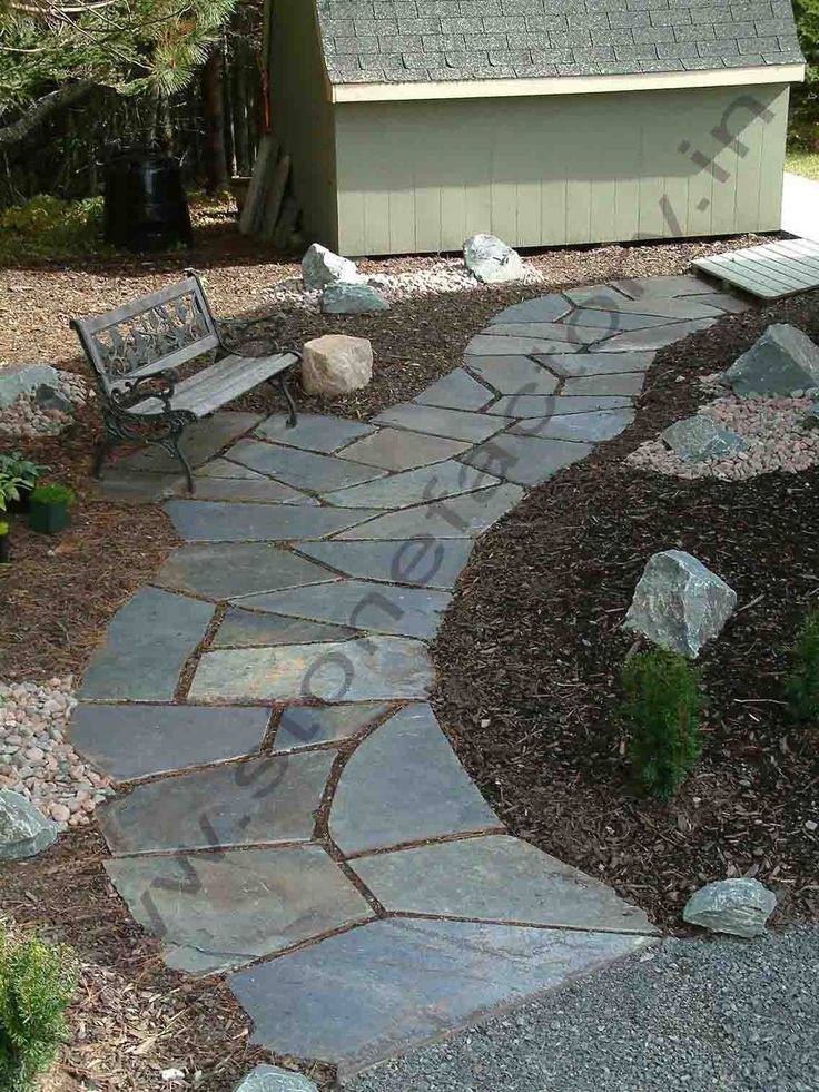 1000 Ideas About Slate Walkway On Pinterest Pebble