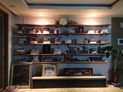 찬넬선반, 찬넬책장, 거실 서재 만들기 : 네이버 블로그