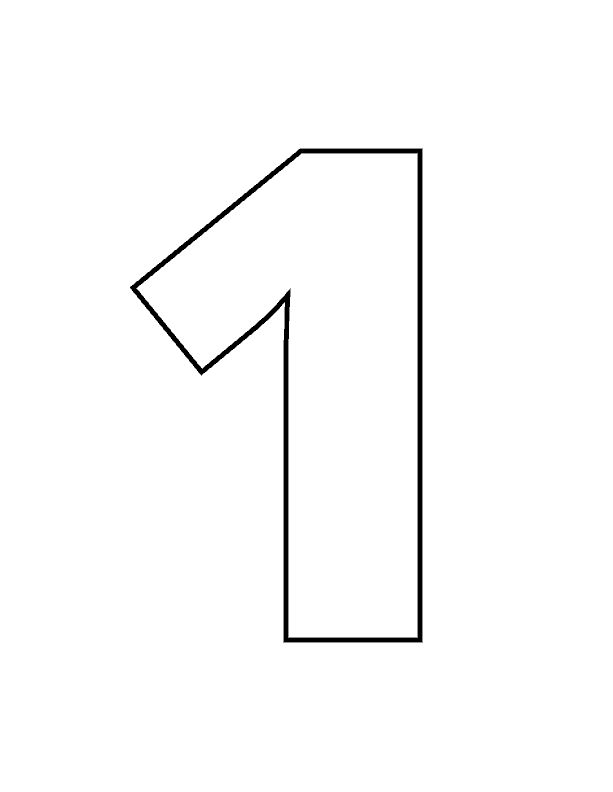 It is a graphic of Peaceful Number 1 Printable