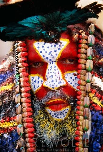 Portrait of Panga man   Papua New Guinea   © Art Wolfe