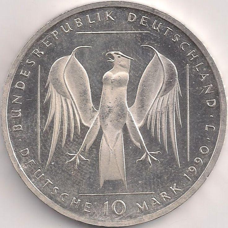 Wertseite: Münze-Europa-Mitteleuropa-Deutschland-Deutsche-Mark-10.00-1990-Deutscher Orden